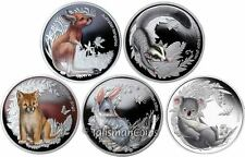 Australia 2010-2011 Bush Babies 5-Coin Complete Collection Silver Proofs