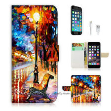 "iPhone 6 (4.7"") Print Flip Wallet Case Cover! Art Painting P0041"