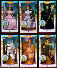Wizard of Oz Barbie Doll Dorothy Wicked Witch Glinda Lion Pink Label Lot 6 VGF