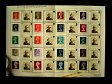 Great Britain 2007 LABEL SHEET  type LS40 - 40th.Ann.of First MACHIN Def's MNH.