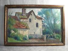 AQUARELLE ancienne Signée MIGNOT 1926 Moulin