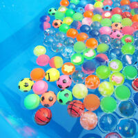 10 x Colorful 27mm Bouncy Jet Balls Kids Toy For Pinata Loot Party Bag Fillers