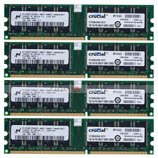 Micron 4GB 4x1GB DDR 400Mhz PC3200 Non-ECC Desktop 184 PIN MEMORY NON-Registered
