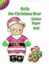 Holly the Christmas Bear Sticker Paper Doll (Dover Little Activity Books), Green