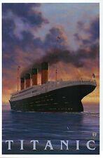 Titanic Famous Ocean Liner Cruise Ship White Star Line, Sunset - Modern Postcard