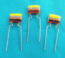 3 x 0.047uf Mullard C280 Metallised Polyester ( Tropical Fish) Capacitors