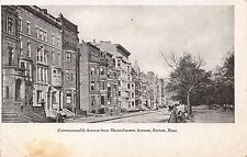BOSTON MA COMMONWEALTH AVENUE FROM MASSACHUSETTS AVENUE UDB POSTCARD 1900s