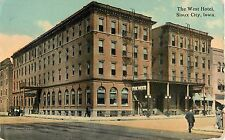 1914 The West Hotel, Sioux City, Iowa Postcard
