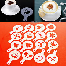 16 Latte Art Schablonen Vorlagen Cappuccino Kaffee Schaum am besten dekorieren