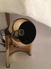 Vintage Mid Century Mod Adjustable Gold Eyeball Sphere Ball Lamp Light