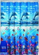 Dolphin Cove Vinyl Shower Curtain