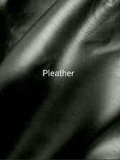 BLACK FAKE LEATHER (pleather) with SPANDEX 4 - WAY STRETCH  Sold By the Yard