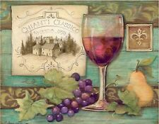 WINE & GRAPE #6   MOUSE PAD  IMAGE FABRIC TOP RUBBER BACKED