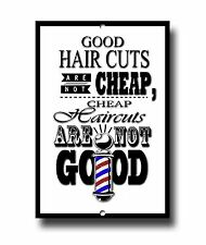 HAIRDRESSES AND BARBER SHOP QUOTE METAL SIGN, BARBER, SHOP DECOR, SHAVES.TRIM