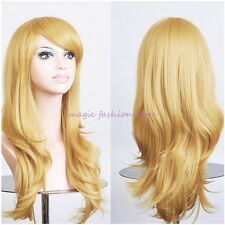 Natural Curly Wig Wavy Fancy Dress Fashion Womens Synthetic Hair Wig Cosplay #v