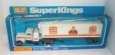Matchbox Super Kings K-31 Burger King Peterbilt Refrigeration Truck, Mint