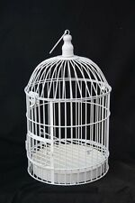 MEDIUM SIZED WHITE IRON ORIENTAL BIRD CAGE FOR WEDDING TABLE