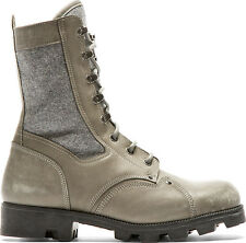 Maison Martin Margiela Men's Khaki Green Leather & Wool Combat Boots 41 8 $1045