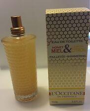 RARE L'Occitane Honey Miel and Lemon Citron Eau de Toilette EDT Perfume 3.4 oz