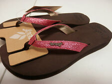REEF WOMENS SANDALS STAR CUSHION BROWN HOT PINK SIZE 9