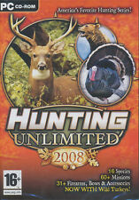 Hunting Unlimited 2008 - Game Deer Turkey Moose Bear Hunter etc PC Game - NEW