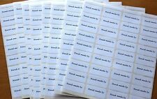 8 Sheets Of 36 Hand-Made By Stickers Labels 288 In Total For Card Making Etc