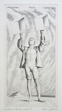 "PAUL CADMUS Signed 1941 Original Etching ""Youth with Kite"""