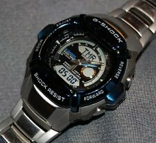 RARE! Casio G-Shock Blue Bezel G540D-2AV Stainless Steel NEW BATTERIES!