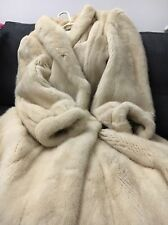 BNWOT RARE COUTURE REAL IVORY MINK FUR FULL LENGTH COAT NO FOX SABLE S/M UK10-12
