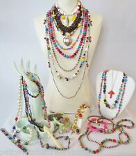 Vintage Costume Jewelry Lot-FUN & FUNKY MIX-Necklaces Beaded Bracelets-28PC