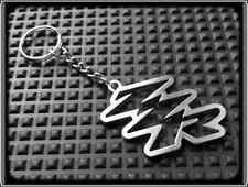 KEYRING for KAWASAKI ZZR 600 1200- STAINLESS STEEL - HAND MADE - CHAIN LOOP FOB