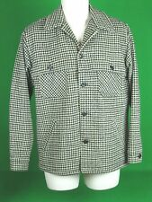 VTG Men's Fox Knapp Wool SM Hounds tooth  Shirt/Jacket THICK Made in USA