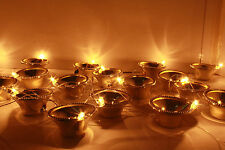 Festival Light 20 Golden Diya,lamp series for Diwali Temple Decoration LED