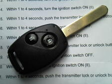 GENUINE HONDA CIVIC Type R,S2000,HRV,CRV,JAZZ ETC 2 BUTTON REMOTE UNCUT KEY FOB