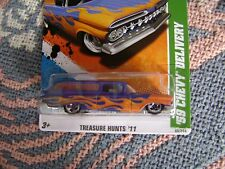 HOT WHEELS LIMITED EDITION 2011 REGULAR TREASURE HUNT 59 CHEVY DELIVERY