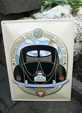 VW Bug Beetle LARGE WALL SIGN Volkswagen Oval Split Brezel Hessisch Oldendorf