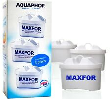 3 MAXFOR AQUAPHOR Water Filter Jug Replacement Cartridges Standard Size Set of 3