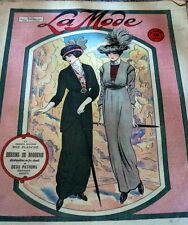 VTG 1910s PARIS FASHION & SEWING PATTERN MAGAZINE LA MODE 1913 ART NOUVEAU