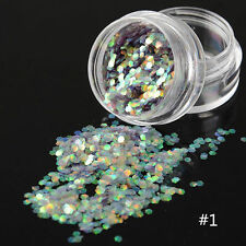 Nail Art Sequins Glitter Tips Colorful Scales Design Manicure Decoration DIY #1