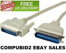 NEW 2M DB25 TO C36 PARALLEL CENTRONICS PRINTER CABLE LEAD FAST FREE UK POST