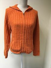 Abercrombie & Fitch Women Cardigan Bright Orange Lambswool Size L (14-16) (39)