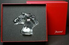 100% Authentic Baccarat Clear Crystal Small Horse's Head Figurine