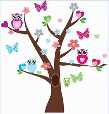 Wall stickers Owl Scroll Tree Hoot II  Decal Art  Nursery Removable Baby Decor