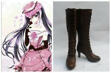 Black Butler Kuroshitsuji Ciel Dress Cosplay Costume Boots Boot Shoes Shoe