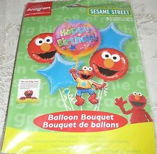 Anagram SESAME STREET Foil Balloon Bouquet Includes 5 Balloons Happy Birthday