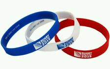 Rugby World Cup 2015 wristbands - set of 3 - Red , White & Blue