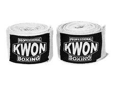 KWON Profi Boxing Bandage unelastisch, weiß. 5 Meter. Muay Thai. Boxen, MMA,Kick