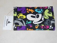 "Disney Theme Parks ""Mickey Mouse"" Faces Pop Art Folding Clutch Wallet (NEW)"