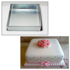 "Single Square 8"" Wedding Birthday Christmas cake tins - cake pan"