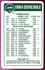 1984 NEW YORK JETS HESS FUELS FOOTBALL POCKET SCHEDULE FREE SHIPPING
